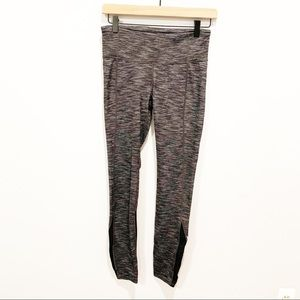 Gap Fit Black and White Heather Leggings